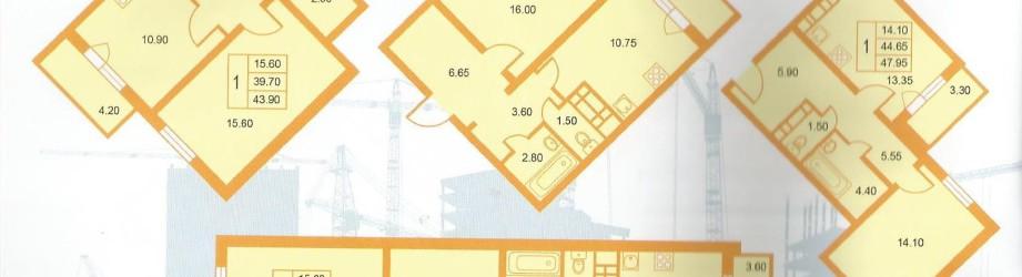 1 комнатные квартиры в ЖК Новогорелово